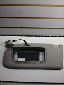2004 Volvo S40 Sun Visor Drivers Side Homelink Lighted Covered Mirror Gray