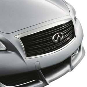 New Oem Infiniti M37 M56 Factory Midnight Black Grille Emblem Not Included