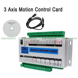 Eco 3 Axis Mach3 Motion Card Cnc Interface Breakout Board Stepper Control Drives