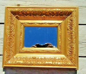 Ornate Gold Vintage Frame Wall Mirror Small Wood Framed Hand Carved