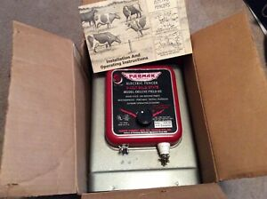 Nos In Box Parmak 6 Volt Solid State Model Deluxe Field Ss Electric Fencer