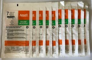 Ansell Encore Microptic Latex Powder Free Surgical Gloves 7 5 10 Pairs 5787004