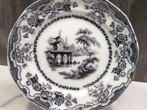 Antique Flow Black Mulberry Percy 10 5 Dinner Plate