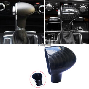 Carbon Fiber Style Inner Gear Shift Knob Cover Trim Fit For 2013 2014 Audi A7