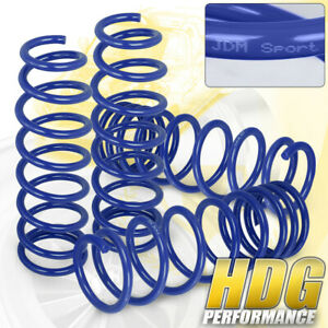 Racing Lowering Spring Blue Set For 2013 2017 Honda Accord 2015 2017 Acura Tlx
