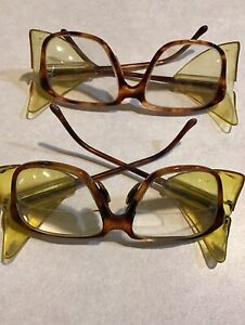 2 Pair Of Vintage Titmus Z87 Safety Glasses Side Shields Close up Bifocal Lens