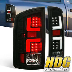 Black For 2007 2008 Dodge Ram 1500 07 09 2500 3500 White Led Tube Tail Lights