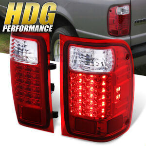 2001 2011 Ford Ranger Truck Replacement Red Lens Led Tail Lights Pair Lamps