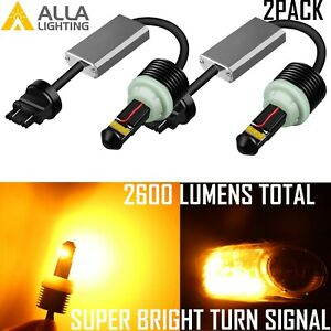 3156nall Led Brightest Amber Yellow Canbus Plug Play Turn Signal Light Bulb Lamp