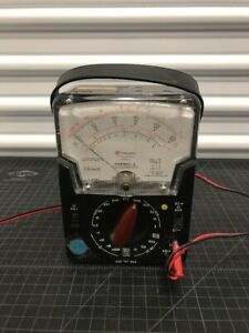 Vintage Electric Voltmeter Ohmeter Mechanical Triplett Model 630 plk