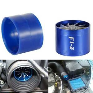 Air Intake Fan Turbo Supercharger Turbonator Gas Fuel Blue Fit 2 5 Inches