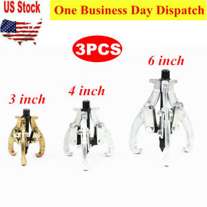 3pcs 3 Jaw Mechanic Gear Puller Set 3 4 6 Auto Bearing Puller