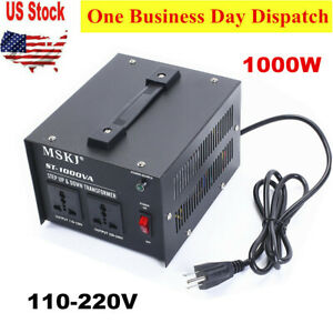 1000w Heavy Duty Step Up down Voltage Converter Transformer 110 220v