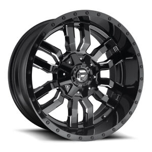 Fuel Sledge D595 20x10 6x135 6x139 7 Offset 19 Gloss Black Milled qty Of 4