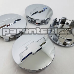 4 83mm 3 25 Chevy Style Center Caps Chrome 20 22 24 Wheels 14 17 Truck Suv
