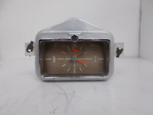1958 58 Original Mercury Clock Beautiful Serviced Works Perfectly