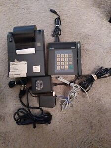 Verifone Tranz 330 Credit Card Swipe Terminal W Printer Cords