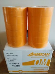 Automotive Masking Tape Haif Case 11 2 X 60 Yds High Temp 12 Rolls Orange