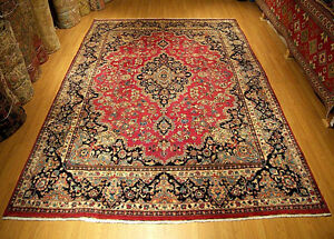 10 X 13 Handmade High Quality Antique Persian Kashmar Rug Soft Silky Fine Wool