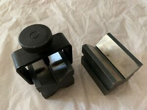 General How Mfg V Block Set In Box With Clamp No 116 Usa