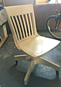 Pottery Barn Bedford Collection Wood Desk Arm Chair Off White