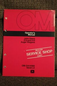 John Deere Operators Manual 210 And 310 Auger Wagons Issue L3