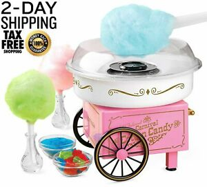 New Commercial Cotton Candy Machine Maker Free Kids Party Carnival Home Sugar