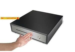 Hk Systems 16 Heavy Duty Black Manual Push Open Cash Drawer With 5bill 5coin St