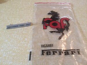 Ferrari Dino 246 Gt Unleaded Fuel Only Emblem