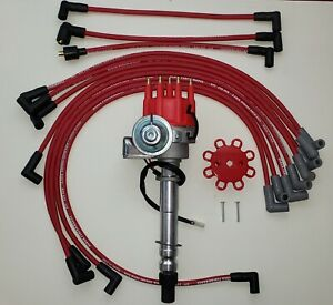 Chevy Small Block Small Cap Hei Distributor 8 5mm Plug Wires Over Valve Covers