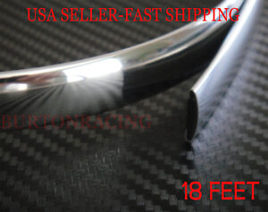 Chrome Trim Molding Strip Interior Exterior Protector 18ft For Benz Audi Bmw Gmc