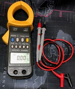 Hioki 3282 Ac Clamp Meter Made In Japan 100 Functional Tested W leads Perfect