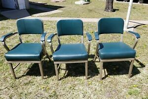 Mid Century Modern Furniture Royal Metal Manufacturing Co Arm Chairs Sturdy