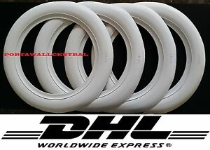 Atlas Brand 13 Wheel 3 Inches Wide 4 New Tires White Wall Set