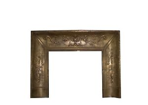 Reposse Neoclassical Bronze Brass Fireplace Surround