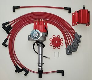 Chevy Small Block Small Cap Hei Distributor 8 5mm Wires Over Valve Cover coil