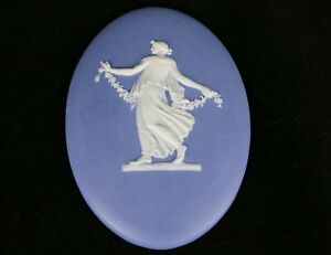 American Antique 6 1 2 X 4 1 2 Hartford Porcelain Jasperware Style Cameo Plaque