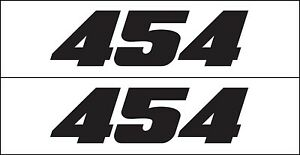 454 Hp Decal Sticker By Metro Auto Graphics Fits Chevy Engine Big Block