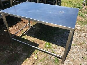 Stainless Steel 48 X 30 Heavy Duty Commercial Prep Food Work Table No Feet Nsf