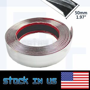 20ft 2 Wide Moulding Trim Strip Silver Auto Exterior Front Grille Roof Garnish