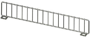 Gondola Shelf Divider Fence Chrome Lozier Madix Usa Made 21 lx 3 h Lot Of 25 New