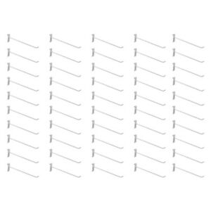 50 Pc 12 Gloss White Long Grid Wall Metal Hooks Display Gridwall Panels