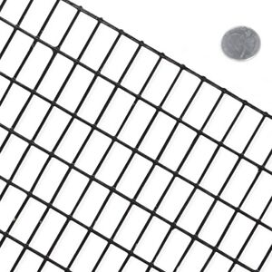 Fencer Wire 16 Gauge Black Pvc Coated Welded Wire Mesh Size 0 5 In X 1 In Metal