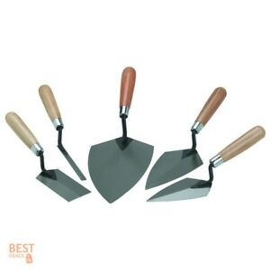 Brick Mason Tools Concrete Cement Finishing Masonry Trowel Set Mortar Finish 5pc