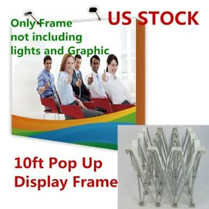 Usa 10ft Tension Fabric Pop Up Display Backdrop Stand Trade Show frame Only