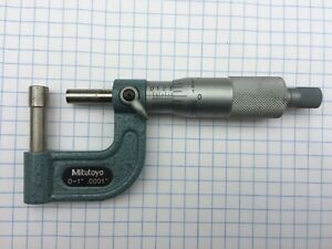 Mitutoyo 115 314 0 1 X 0001 Anvil Tube Round Anvil Micrometer