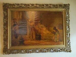 Antique Museum Quality Painting Frame Large Carved Wood Victorian Picture Frame
