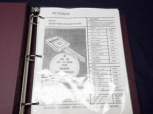 1962 1969 Pontiac Acadian Master Parts Book