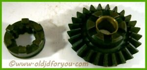 Ah1195r H724r John Deere H Pto Shaft Bevel Gear With Collar Nice Matched Set