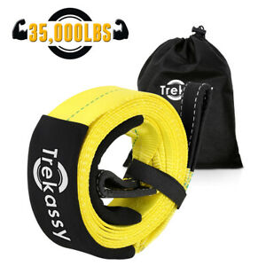 Tow Strap Rope 3 X 30 35 000 Lb Rating Yellow Heavy Duty For Jeep Truck Suv Us